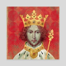 Richard II King Portrait - Canvas by Anna and Elena Balbusso Twins