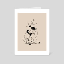 Nude no. 2 - Art Card by Amber Morgan