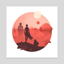 Tatooine Sunset - Canvas by Anna Kuptsova