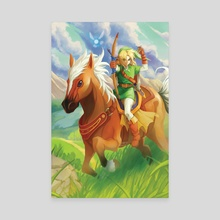 Link and Epona - Canvas by Reema Andrade
