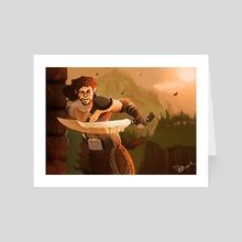 The Ruin Searcher - Art Card by Dakota Curry