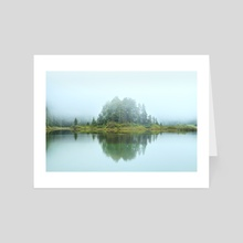 Misty Island - Art Card by Marvin Diehl