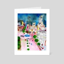 Madrid - Art Card by Ana Nuñez