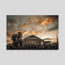 Golden sky in Freiburg - Canvas by Andreas Boehler