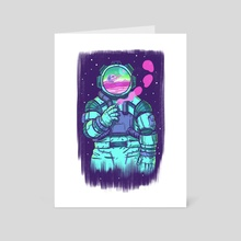 Space Smoker Blue - Art Card by Chi-Yun Lau
