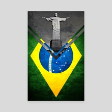 Flag - Brazil - Canvas by Alexandre Ibáñez