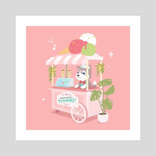 Ice Cream Husky by kitschchris