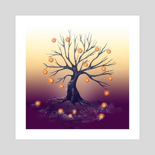 GOLDEN APPLE TREE by Elena Zharinova