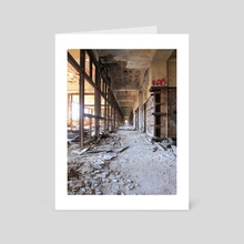 Packard Plant Hall - Art Card by Tim Belusar