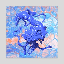 Acid Horse Flower - Canvas by Nadya Plyamko