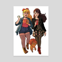 Minako & Rei Pokemon Trainers - Canvas by Lisa Sterle