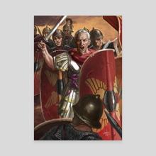 Julius Caesar in the Battle of Munda - Canvas by Sandra Delgado