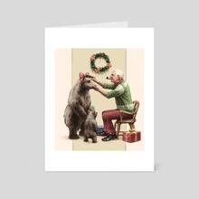 Preparing for Guests - Art Card by Eelis Kyttanen