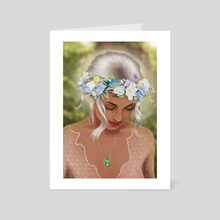 Flower Crowned Girl - Art Card by Olivia Carus
