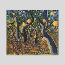 Orange Grove - Canvas by Kaelee Helms