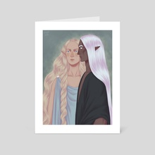 Celeborn and Galadriel - Art Card by Cassandra McLean