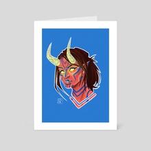 Oni Girl - Art Card by Eleni Mutafopulos