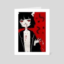 bad cat! - Art Card by monday einstein