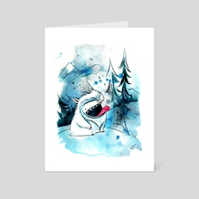 yeti - Art Card by Emma SanCartier