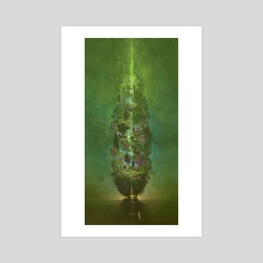 BIG GREEN TREE by Burton Gray