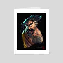 Overwatch - Hanzo - Art Card by SKOWB