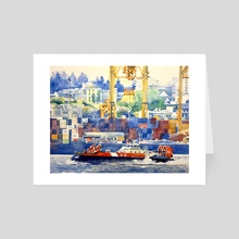 North Vancouver Waterfront 8 - Art Card by Tim Bennison