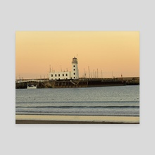 Scarborough lighthouse - Canvas by Eve King