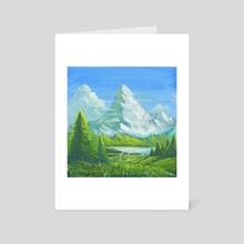 Majestic Mountain - Art Card by Roberto Nieto