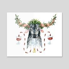 Longhorn - Acrylic by Al Polston