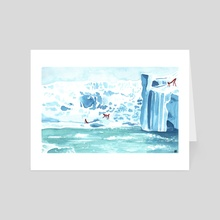 On the Ice - Art Card by Rowan Fridley
