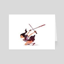 sword girl  - Art Card by Angela An