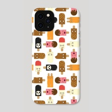 Ice Cream Pattern - Phone Case by Onno Knuvers