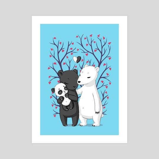 Bear Family by Indré Bankauskaité