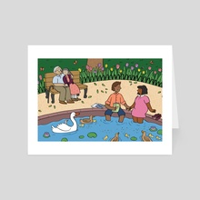 Springtime in the Park - Art Card by Mary Freelove