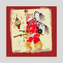 Kabuki Dog - Canvas by Jana Zafirovska
