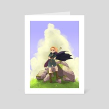 Queen of the Hill - Art Card by Vanessa
