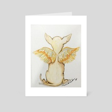 flying chihuahua - Art Card by ros custom