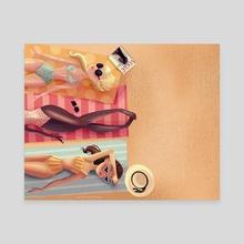 Summer Vibes - Canvas by Amanda Morrow