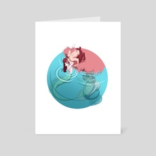 Boobytrapped - Art Card by Athena Sabato