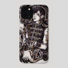 Dark Circus: Fire Juggler - Phone Case by Tiffany D