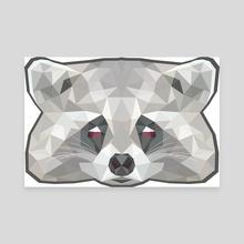 Raccoon poly - Canvas by Genevieve Blais