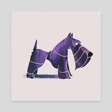 Scottish terrier  - Canvas by Ali Saei