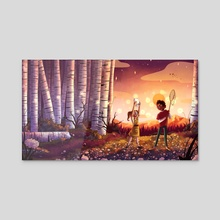 Fireflies - Acrylic by Ashley Rivardo