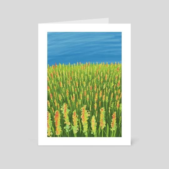 Angelonia Field by nezart. gallerystudio