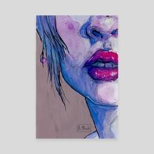 Lips - Canvas by Glummingbird