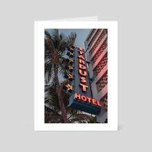 Stardust hotel miami florida  - Art Card by Monika Lis
