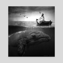 The Girl & The Whale - Canvas by Sarah DeRemer