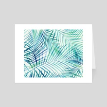 Tropical Palm Print - Art Card by Modern Tropical