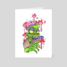 Zombie - Art Card by Vuduu Prints