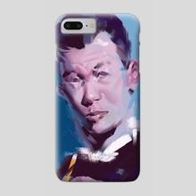 guy vs blue - Phone Case by Michal Lisowski